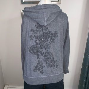DKNY Hoodie with flower detailed back